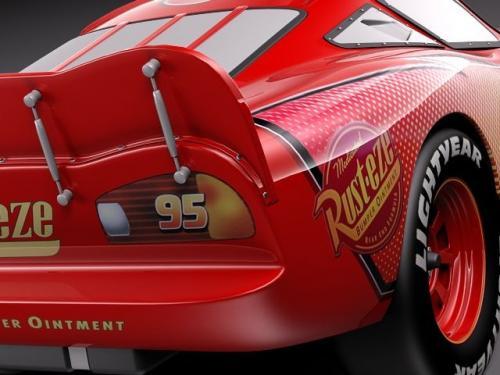 mcqueen cars 3d model turbosquid